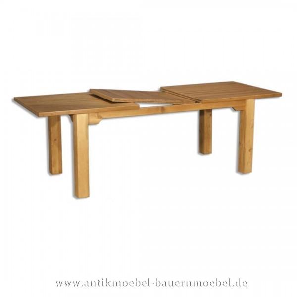 Esstisch Kulissentisch Holztisch Eiche Massivholz ausziehbar quadratisch Vollholz Artikel-Nr.: est-23-e