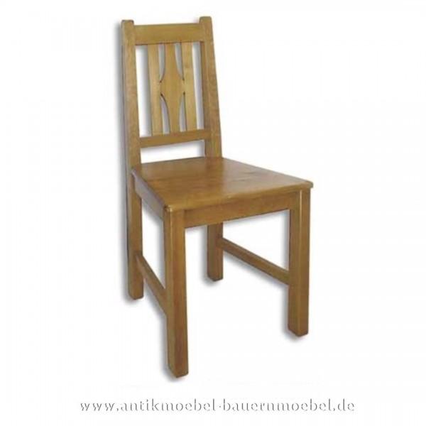 Stuhl Holzstuhl Küchenstuhl Vollholz Landhausstil Rückenlehne mit senkrechte Streben Artikel-Nr.: stl-17-st