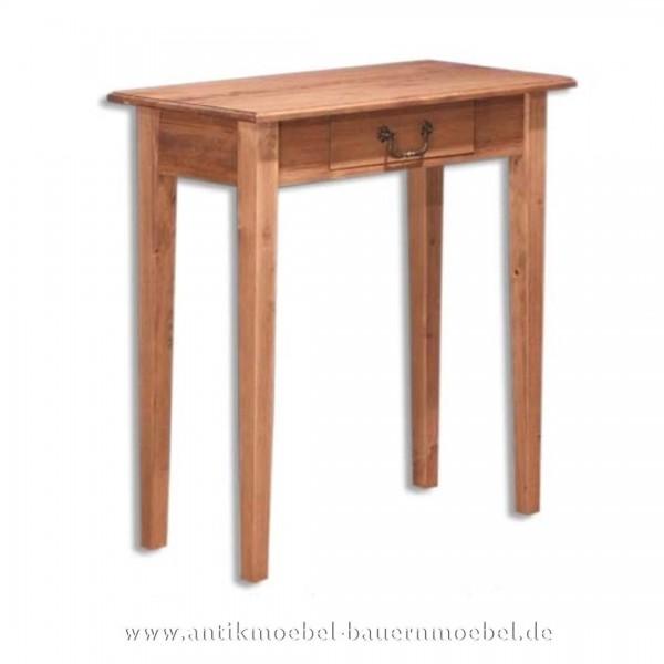Beistelltisch Wandtisch Konsolentisch Landhausstil Massivholz Weichholz Quadratisch Artikel-Nr.: bst-27-ms
