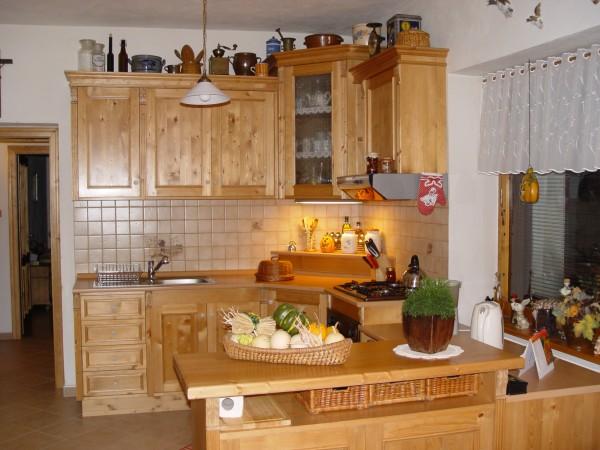 Eckküche Kücheblock Einbauküche-Küchenzeile-Modulküche-Winkelküche Landhausstil