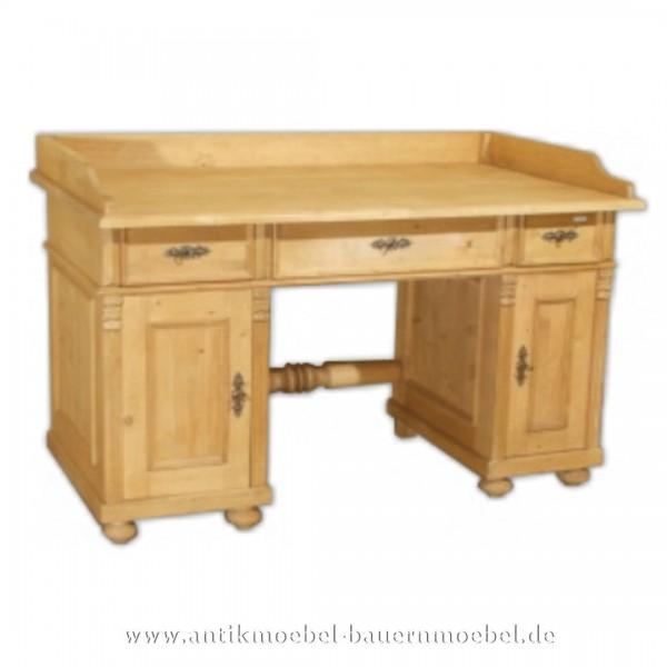Schreibtisch Landhausstil Bauernmöbel Massivholz Vollholz PC- Arbeitstisch Bürotisch Artikel-Nr.: sbt-42-sta