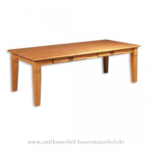 Esstisch Küchentisch Holztisch quadratisch Massivholz Landhausstil Gründerzeit Weichholz Artikel-Nr.: est-16-e