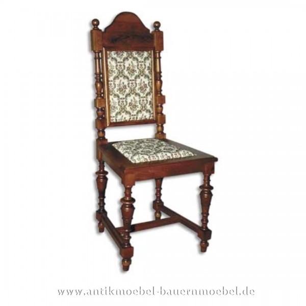 Sessel Stuhl Buche dunkel Säulenbeine Polster in Sitzfläche und Rückenlehne Gründerzeit Artikel-Nr.: stl-42-sep