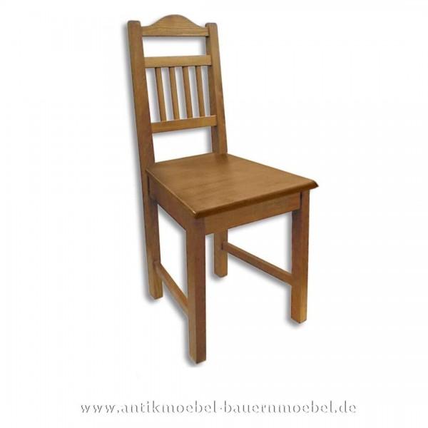 Stuhl Holzstuhl Fichte Massivholz Landhausstil Rückenlehne mit senkrechte Streben Artikel-Nr.: stl-15-st