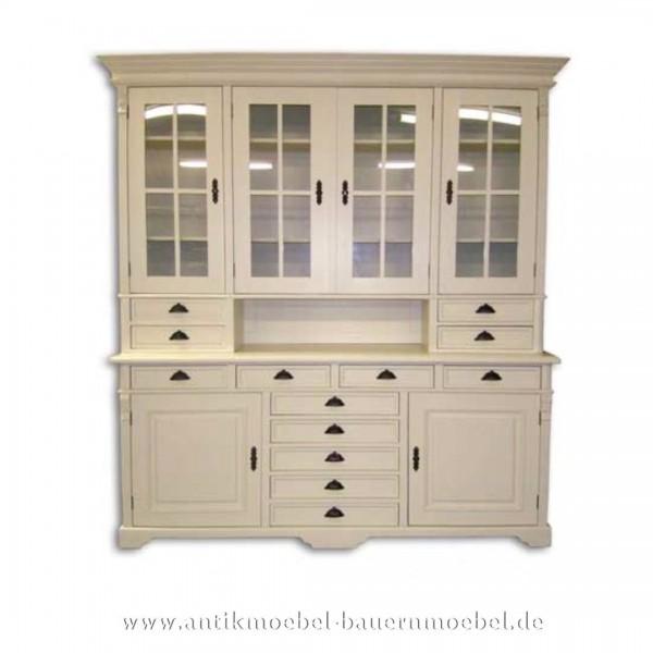 Buffetschrank Küchenbuffet Geschirrschrank weiß Landhausstil Massivholz Lackiert Artikel-Nr.: buf-26