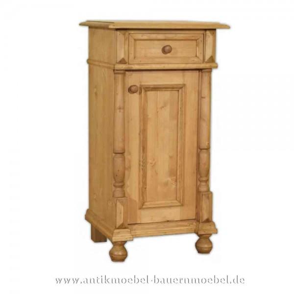 Nachttisch Nachtkonsolen Nachtschrank mit Säulen Landhausstil Massivholz Gründerzeit Artikel-Nr.: nts-09-st