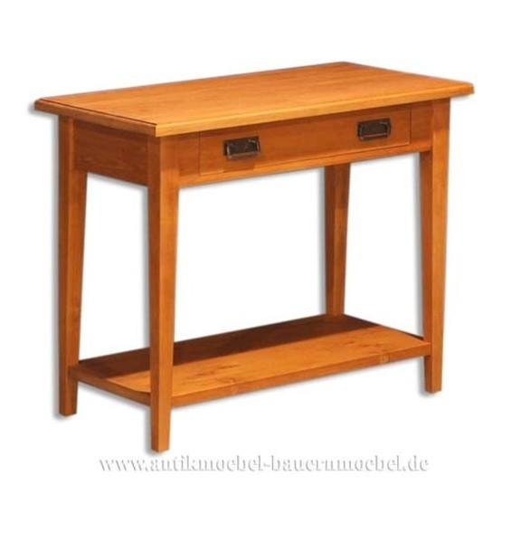 Beistelltisch Wandtisch Konsolentisch Weichholz Landhausstil Vollholz Quadratisch Artikel-Nr.: bst-24-sb