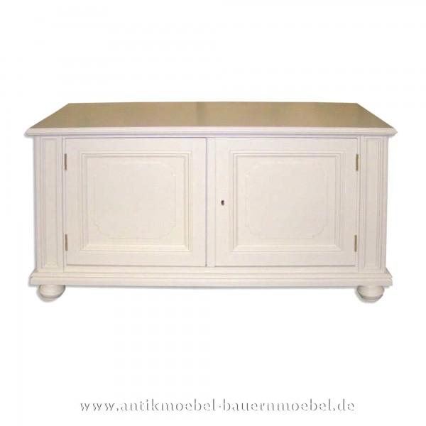Halbschrank Anrichte Sideboard weiß lackiert Gründerzeit Massivholz Landhausstil Weichholz