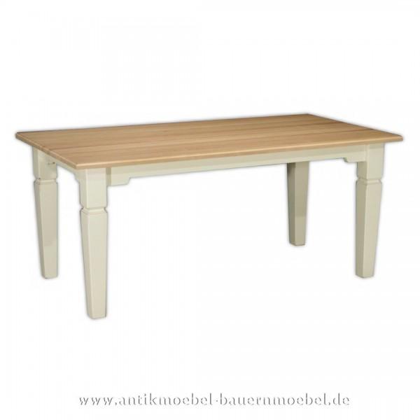 Esstisch Kulissentisch Holztisch Landhausstil Buche / Fichte quadratisch Massivholz Artikel-Nr.: est-34-e