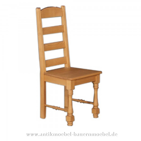 Stuhl Holzstuhl Küchenstuhl Fichte Massivholz Landhausstil mit hohe Rückenlehne