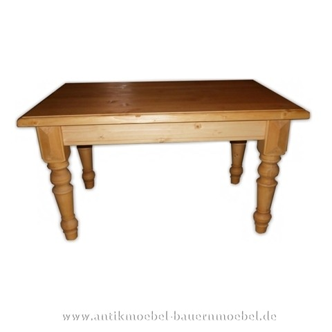 Couchtisch Beistelltisch Holztisch Quadratische Massivholz Fichte Gründerzeit Landhausstil