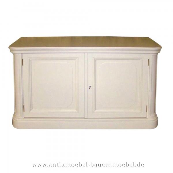 Halbschrank Anrichte Sideboard weiß lackiert Gründerzeit Massivholz Landhausstil Vollholz