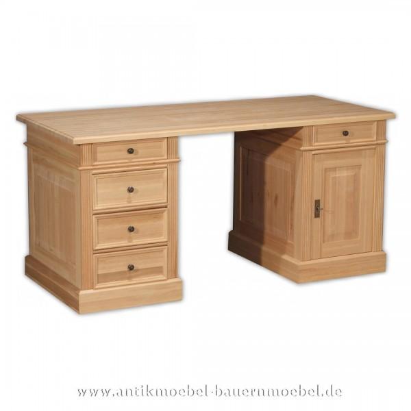 Schreibtisch Landhausstil Massivholz ErleVollholz Bürotisch PC-Tich Arbeitstisch Artikel-Nr.: sbt-30b-st