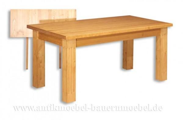 Esstisch Kulissentisch Holztisch ausziehbar quadratisch Massivholz Landhausstil Weichholz Artikel-Nr.: est-18-e