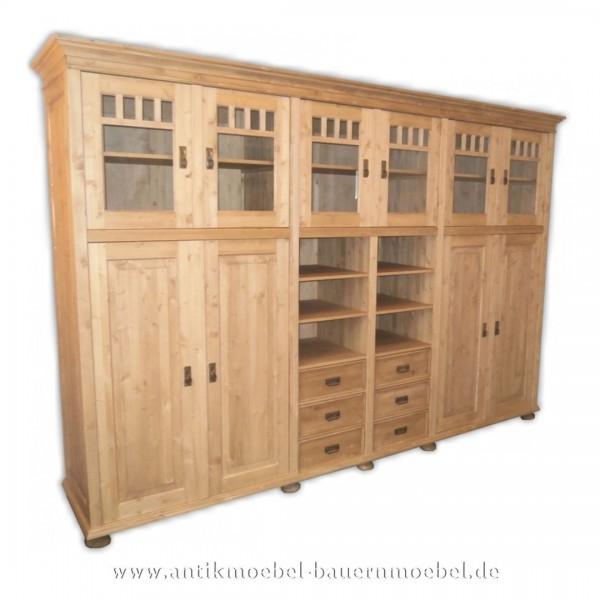 Kleiderschrank Schrank Küchenmöbel Massivholz Landhausstil gebeizt Weichholz