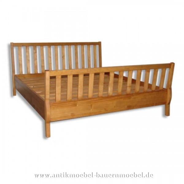 Bett Doppelbett Holzbett 180x200 Massiv Landhausstil Weichholz Vollholz Gründerzeit