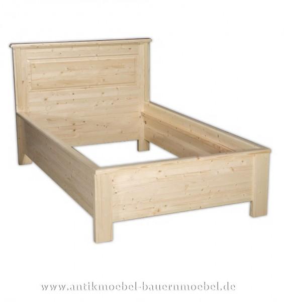 Bett Holzbett Einzelbett 120x200 Massivholz/- möbel Weichholz Bettgestell Weichholz farblos gewachst