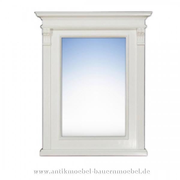 Spiegel Weißer Wandspiegel Flurspiegel Massivholz Landhausstil Maße 95x77 cm Artikel-Nr.: spg-05-k