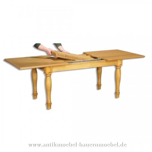 Esstisch Kulissentisch Holztisch Fichte Massivholz ausziehbar quadratisch Vollholz Artikel-Nr.: est-24b-e