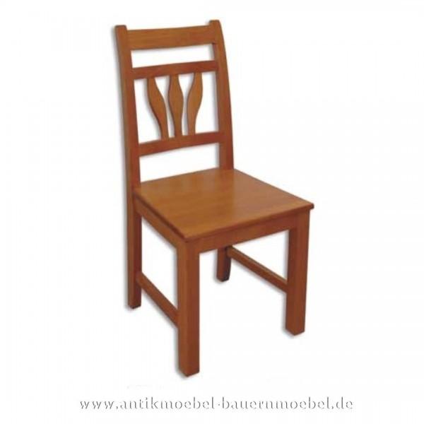 Stuhl Buche Massivholz Landhausstil Holzstuhl mit Blätterformen in der Rückenlehne Artikel-Nr.: stl-12-st