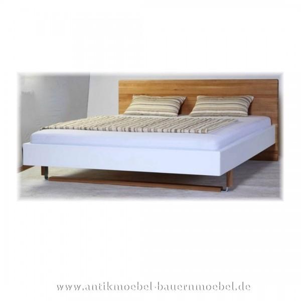 Bett Doppelbett 180x200 Modernes Design Eiche Massivholz Lackiert Vollholz Maßanfertigung Artikel-Nr.: bet-404-d