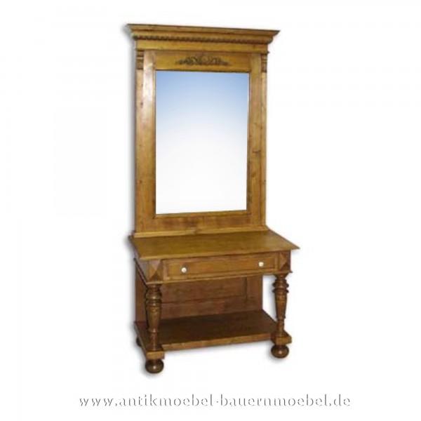Dielentisch Flurtisch Tisch mit Spiegel Landhausstil Massivholz Gründerzeit Vollholz