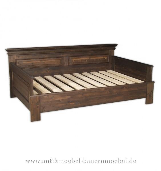 Bett Gästebett Bettsofa 160x200 Landhausstil/-möbel Weichholz gebeizt Bettgestell Artikel-Nr.: bet-16-g