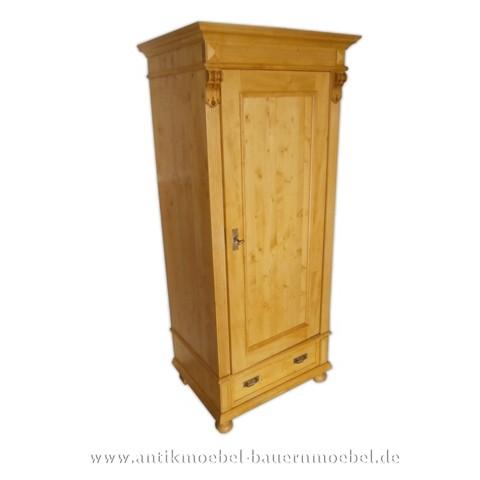 Kleiderschrank Holzschrank Dielenschrank 1-Tür Weichholz Landhaus Vollholz