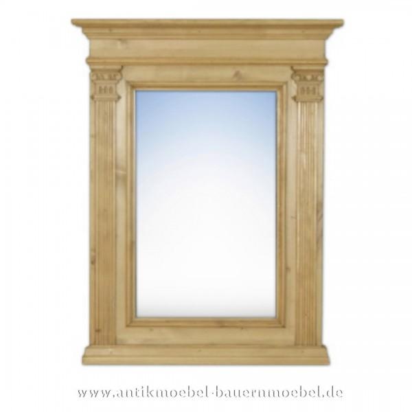 Spiegel Wandspiegel Flurspiegel Massivholz Landhausstil Maße 80x63 cm Gründerzeit Artikel-Nr.: spg-01-k