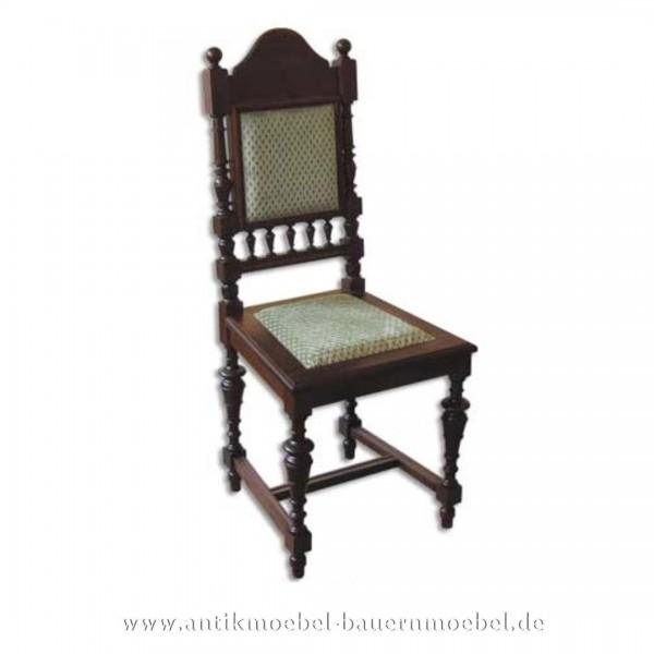 Sessel Stuhl Buche dunkel Säulenbeine Polster in Sitzfläche und Rückenlehne Gründerzeit Artikel-Nr.: stl-43-sep