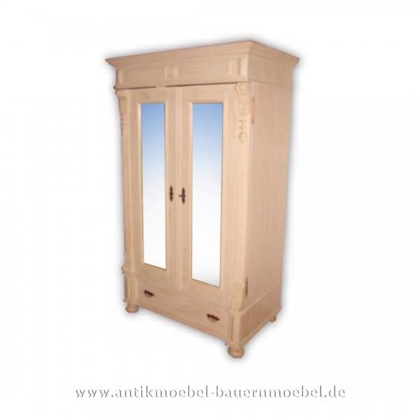 Kleiderschrank Flurschrank Garderobenschrank Weiß Shabby Chic Landhausstil Massivholz Artikel-Nr.: kls-07-sp