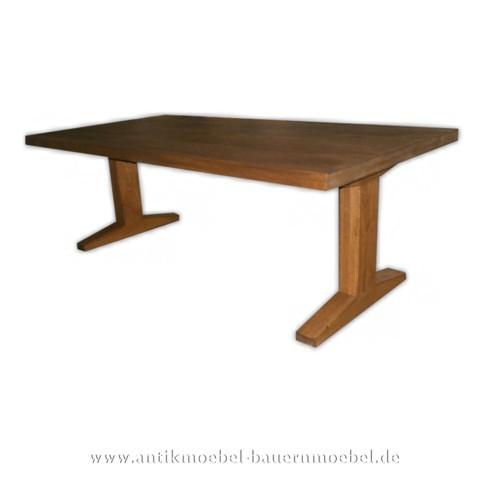 Esstisch Küchentisch Holztisch Eiche Massivholz Hartholz quadratisch Vollholz Artikel-Nr.: est-70-e