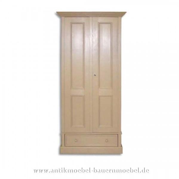 Kleiderschrank Holzschrank 1-Tür Massivholz Landhausstil Artikel-Nr.: kls-79-ms