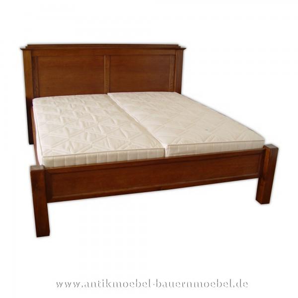 Bett Doppelbett Bettgestell 180x200 Nussbaum Furniert Lackiert Bauernmöbel Landhausstil