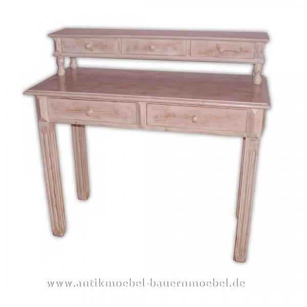 Beistelltisch Wandtisch Konsolentisch weiß Shabby Chic Lackiert Landhausstil Massivholz