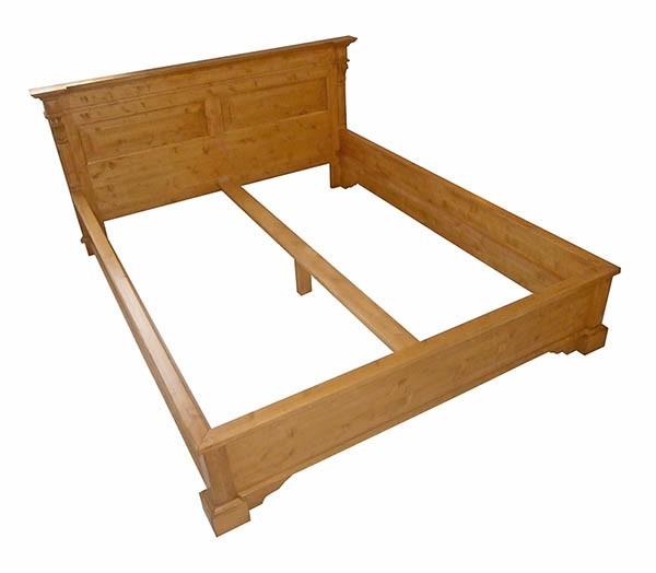Bett Doppelbett Bauernmöbel Holzbett 160x200 Massiv Fichte Landhausstil Vollholz Gebeizt