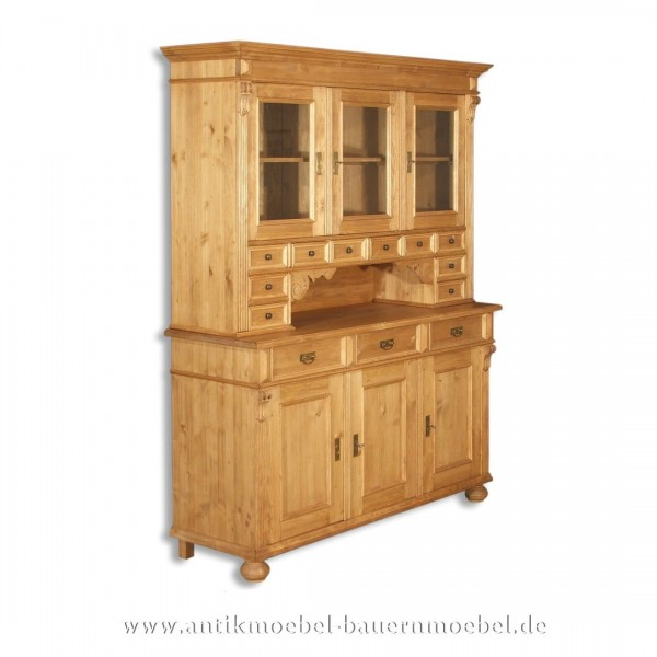 Buffetschrank Küchenschrank Geschirrschrank Bauernmöbel Vollholz Landhausstil Massivholz Artikel-Nr.: buf-19