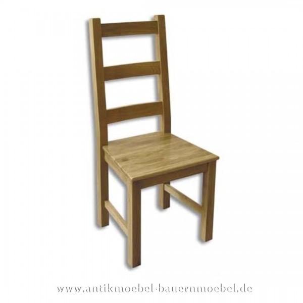 Stuhl Holzstuhl Eiche Massivholz Landhausstil hohe Lehne Querstreben in der Rückenlehne Artikel-Nr.: stl-28-st