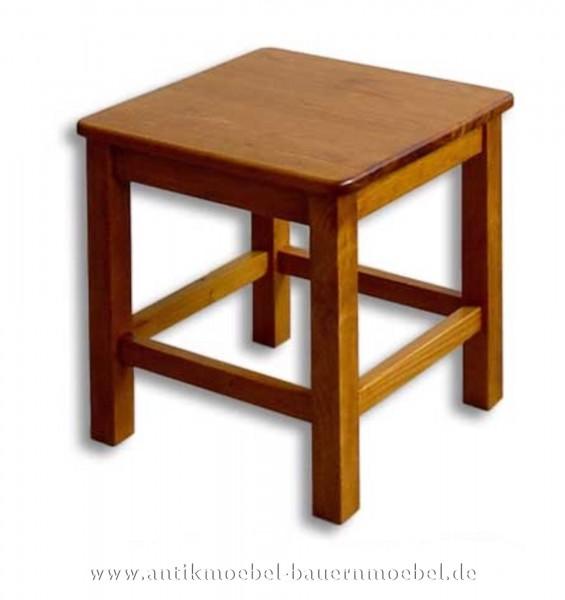 Hocker Massivholz Holz-Schemel Holzhocker Sitzschemel Landhausstil schlicht Naturton Artikel-Nr.: stl-01-hk