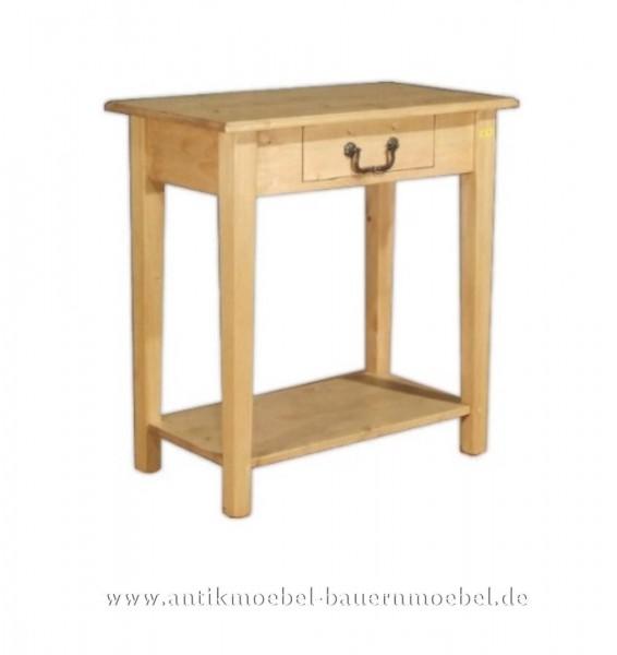 Beistelltisch Wandtisch Konsolentisch Weichholz Landhausstil Vollholz Quadratisch Artikel-Nr.: bst-10-sb
