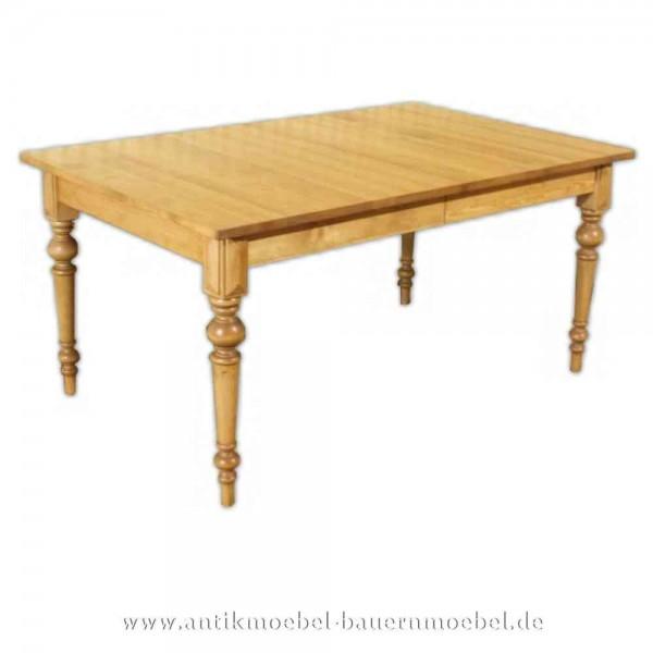 Esstisch Kulissentisch Holztisch Massivholz Landhausstil ausziehbar quadratisch Vollholz Artikel-Nr.: est-47-e