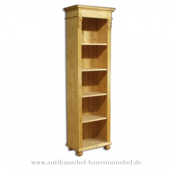 Regal Holzregal Bücherregal Bücherschrank Massivholz Landhausstil Vollholz Gründerzeit Artikel-Nr.: bue-11-rg