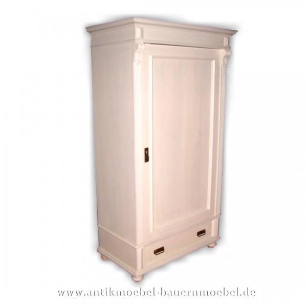 Kleiderschrank Garderobenschrank Schlafzimmermöbel weiß Lackiert Massivholz Landhausstil Artikel-Nr.: kls-18-ms