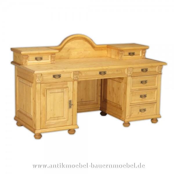 Schreibtisch mit Aufsatz Landhausstil Bauernmöbel Massivholz Kinderschreibtisch Bürotisch Artikel-Nr.: sbt-36-sta