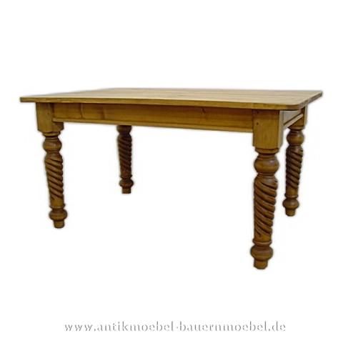 Esstisch Holztisch Massivholz Landhausstil Fichte Gründerzeit quadratisch Weichholz