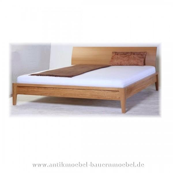 Bett Doppelbett 180x200 Modernes Design Eiche Massiv Hartholz Maßanfertigung Lackiert Artikel-Nr.: bet-406-d