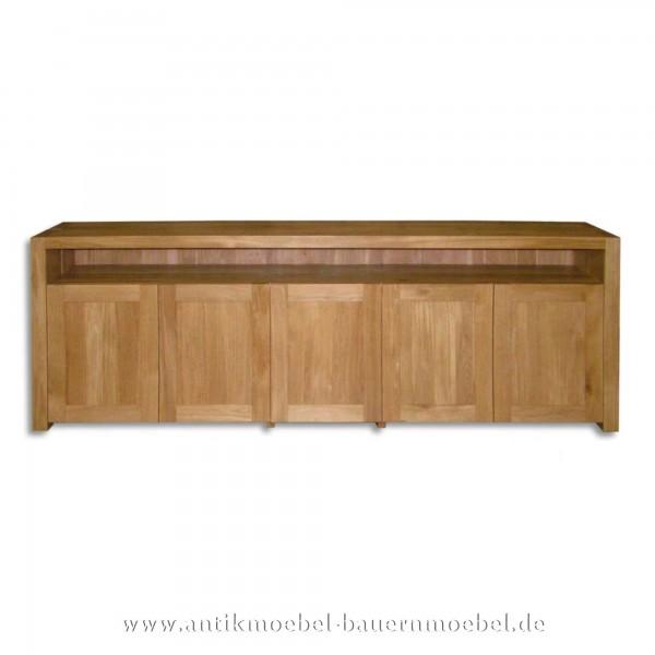 Sideboard Lowboard Tv-Unterschrank Landhausstil Massivholzmöbel Naturton Vollholz