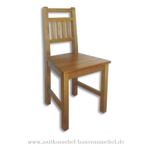 Stuhl Holzstuhl Küchenstuhl Massivholz Landhausstil Rückenlehne mit senkrechte Streben Artikel-Nr.: stl-13-st