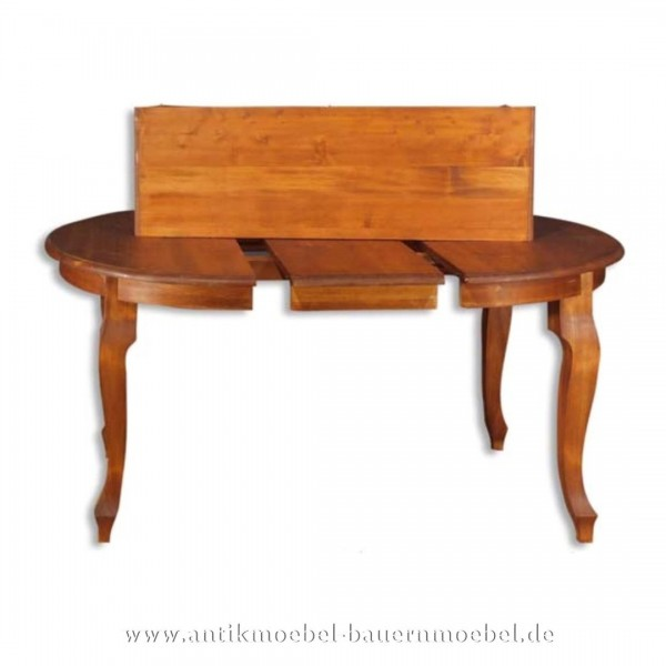 Esstisch Kulissentisch Holztisch ausziehbar Massivholz Landhaus Louis Phillipe Rund Artikel-Nr.: est-05-r