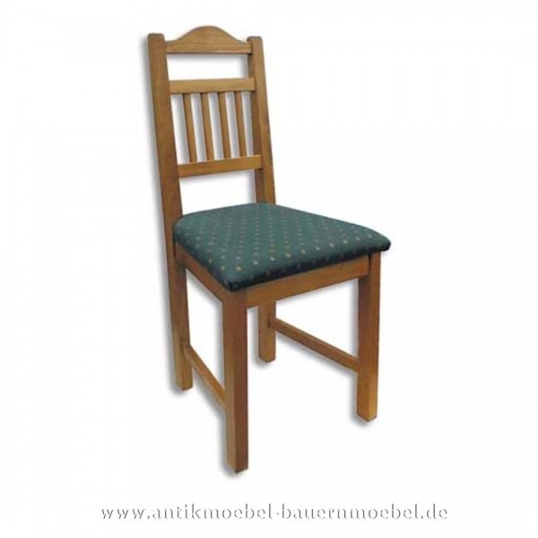 Stuhl Holzstuhl Massivholz gepolstert Landhausstil Rückenlehne mit senkrechte Streben Artikel-Nr.: stl-15-stp